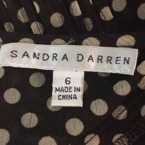 Sandra Darren Dresses - Sandra Darren Sheer Polka Dot Dress